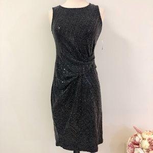 NWT Bar III 'Bright' Black Sequin Dress